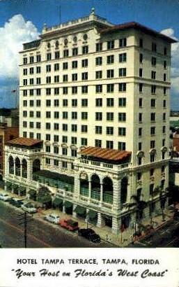 Tampa Terrace Hotel - Florida FL Postcard