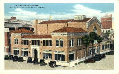 Masonic Temple - Tampa, Florida FL Postcard