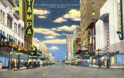 Franklin Street - Tampa, Florida FL Postcard