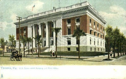 U. S. Government Buildling - Tampa, Florida FL Postcard