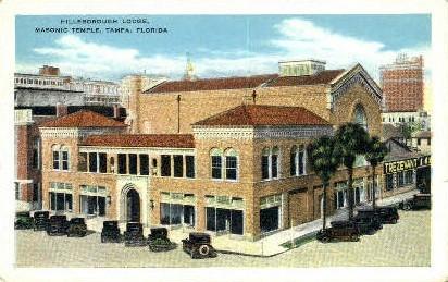 Hillsboro Lodge - Tampa, Florida FL Postcard