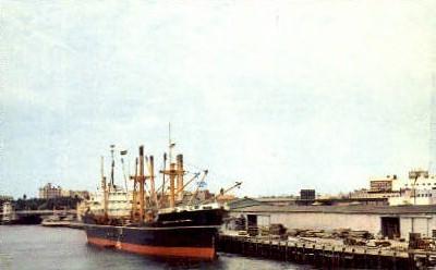 Port - Tampa, Florida FL Postcard