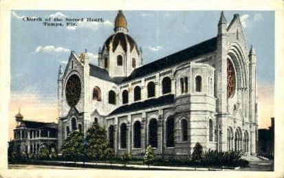 Church of the Sacred Heart - Tampa, Florida FL Postcard