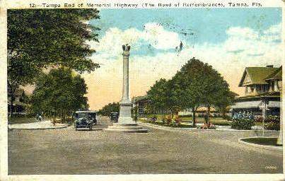 Memorial Highway - Tampa, Florida FL Postcard