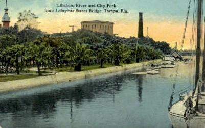 Hillsboro River - Tampa, Florida FL Postcard