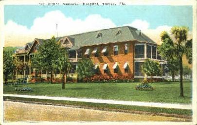 Kellar Memorial Hospital - Tampa, Florida FL Postcard