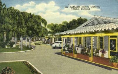 El Rancho Hotel - Tampa, Florida FL Postcard