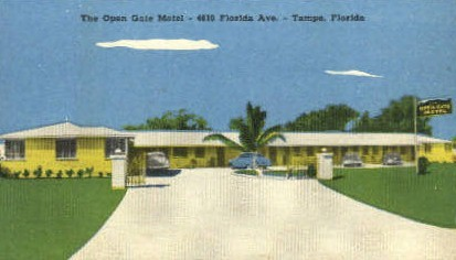 Open Gate Motel - Tampa, Florida FL Postcard