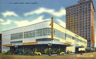 W. T. Grank Store - Tampa, Florida FL Postcard