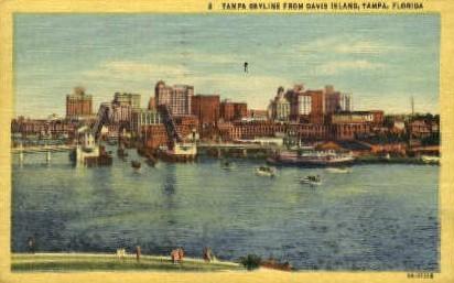 Davis Islands - Tampa, Florida FL Postcard