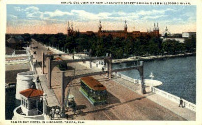 Lafayette Street - Tampa, Florida FL Postcard