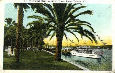 Municipal Boat Landing - Tampa, Florida FL Postcard