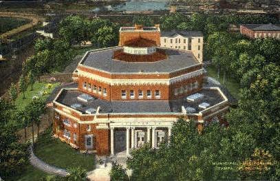 Municipal Auditorium - Tampa, Florida FL Postcard