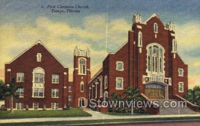 First Christian Church - Tampa, Florida FL Postcard
