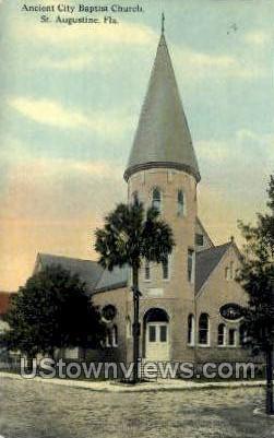 Baptist Church - St Augustine, Florida FL Postcard