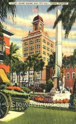 Court House Square - Tampa, Florida FL Postcard