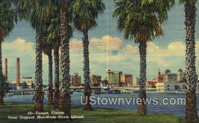 Man-Made Davis Island - Tampa, Florida FL Postcard