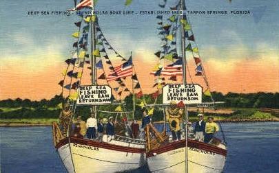 St. Nicholas Boat Lite - Tarpon Springs, Florida FL Postcard