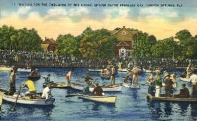 Throwing of the Cross - Tarpon Springs, Florida FL Postcard