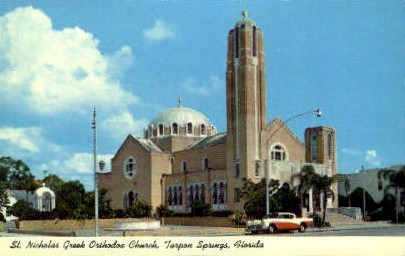 St. Nicholas Greek Orthodox Church - Tarpon Springs, Florida FL Postcard
