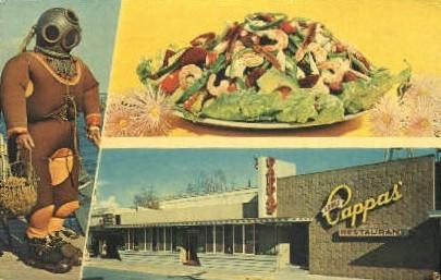 Louis Cappas' Restaurant - Tarpon Springs, Florida FL Postcard