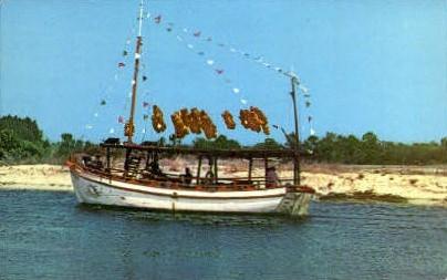 Sponge Boat, Anclote River - Tarpon Springs, Florida FL Postcard