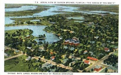 Aerial View - Tarpon Springs, Florida FL Postcard