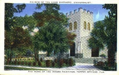 Church of Good Shepard - Tarpon Springs, Florida FL Postcard