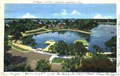Spring Bayou - Tarpon Springs, Florida FL Postcard