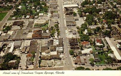Dowtown  - Tarpon Springs, Florida FL Postcard