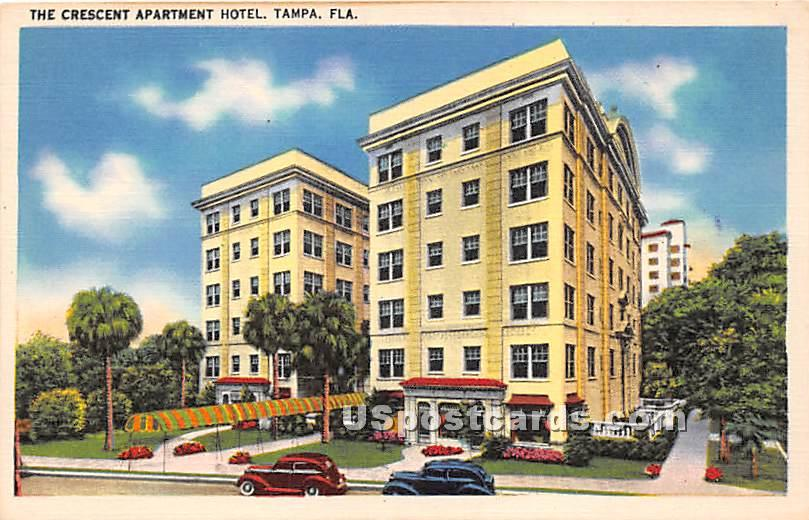 Crescent Apartment Hotel - Tampa, Florida FL Postcard