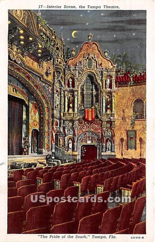 Tampa Theatre - Florida FL Postcard