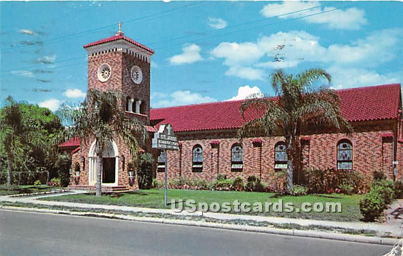 St Paul Evangelical United Brethren Church - Tampa, Florida FL Postcard