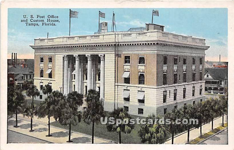 US Post Office & Custom House - Tampa, Florida FL Postcard
