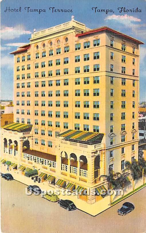 Hotel Tampa Terrace - Florida FL Postcard