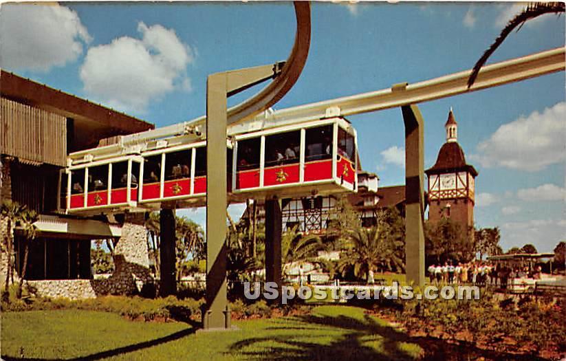 Busch Gardens Skyrail Safari - Tampa, Florida FL Postcard