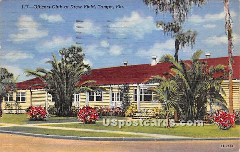 Officers Club at Drew Field - Tampa, Florida FL Postcard