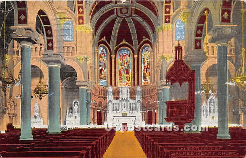 Sacred Heart Church - Tampa, Florida FL Postcard