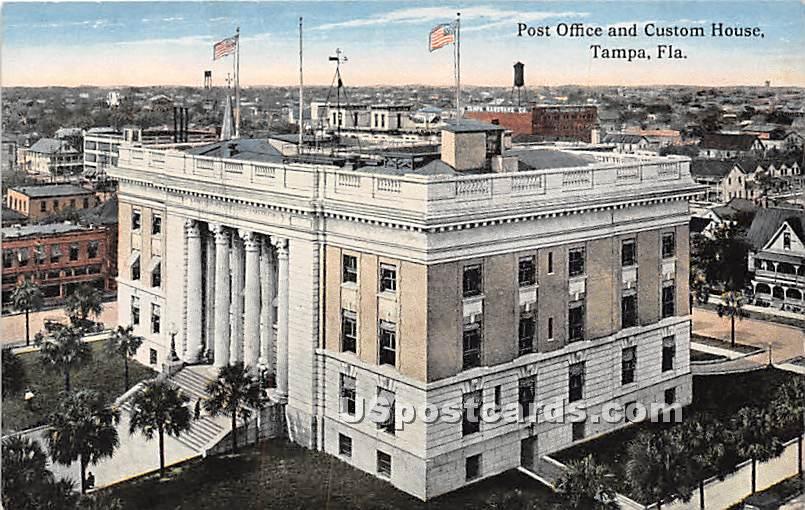 Post Office & Custom House - Tampa, Florida FL Postcard