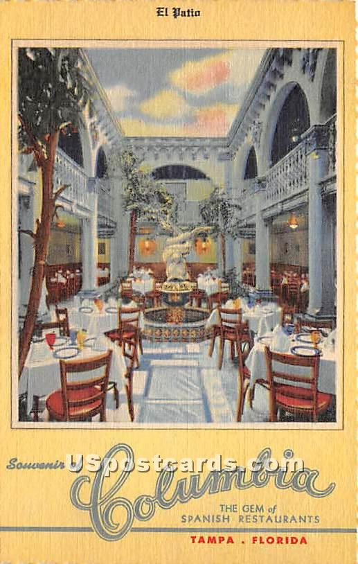 Columbia - Tampa, Florida FL Postcard