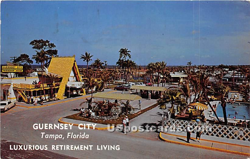 Guernsey City, Luxurious Retirement Living - Tampa, Florida FL Postcard