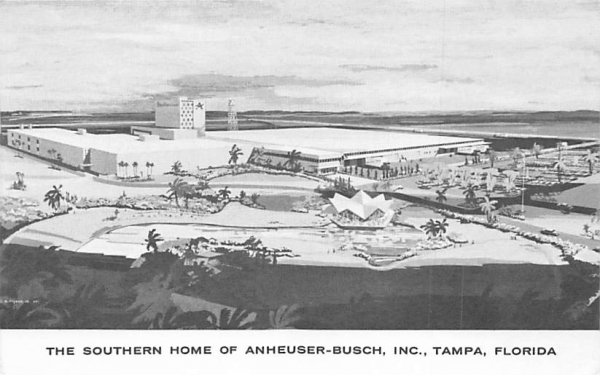 The Southern Home of Anheuser-Busch, INC Tampa, Florida Postcard