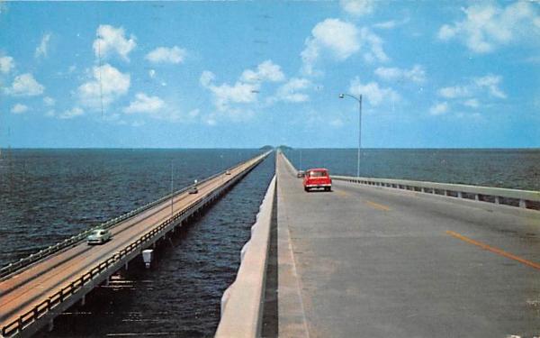 The Gandy Double-Span Bridges Between Tampa and St Petersburg Florida Postcard