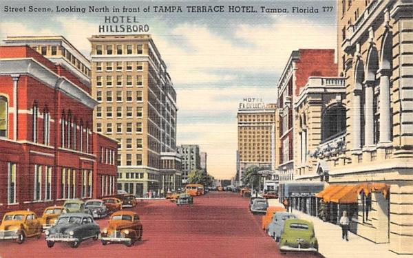 Street Scene Tampa, Florida Postcard