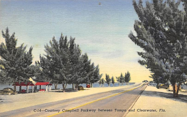 Courtney Campbell Parkway Tampa, Clearwater, FL, USA Florida Postcard