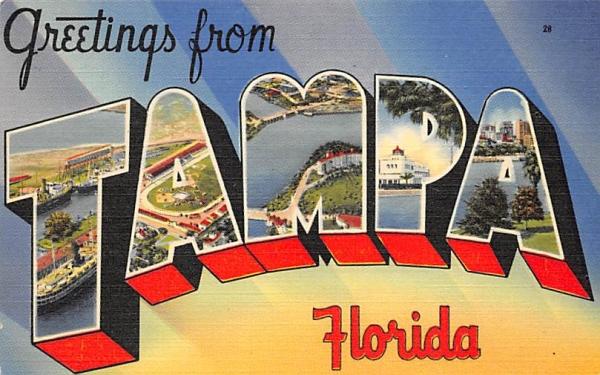 Greetings from Tampa, FL, USA Florida Postcard
