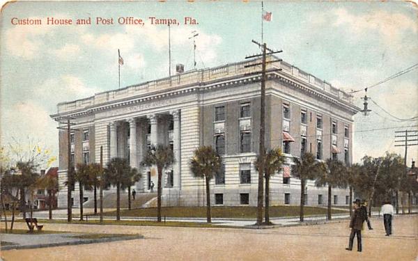 Custom House and Post Office Tampa, Florida Postcard