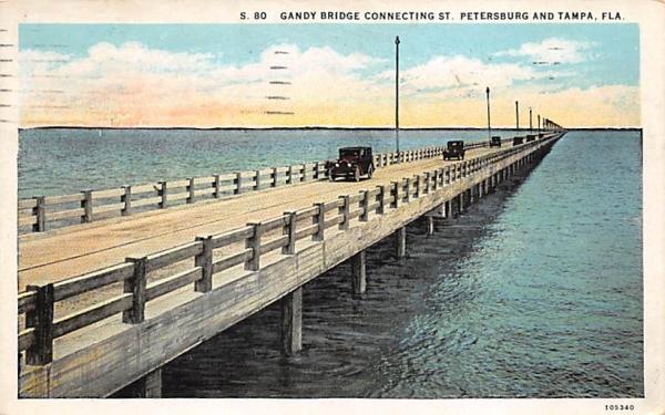 St. Petersburg and Tampa, FL, USA Florida Postcard