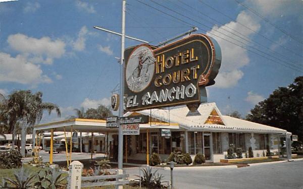 El Rancho Hotel Courts Tampa, Florida Postcard