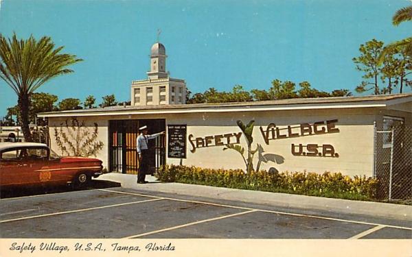 Safety Village, U.S.A. Tampa, Florida Postcard